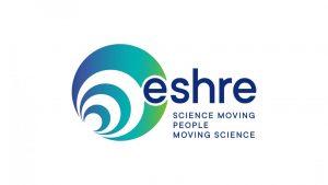 Kuvassa ESHRE:n logo ja teksti eshre Science moving people moving science