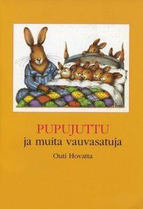 uvassa on kansikuva pupujuttu ja muita vauvasatuja lastenkirjasta.